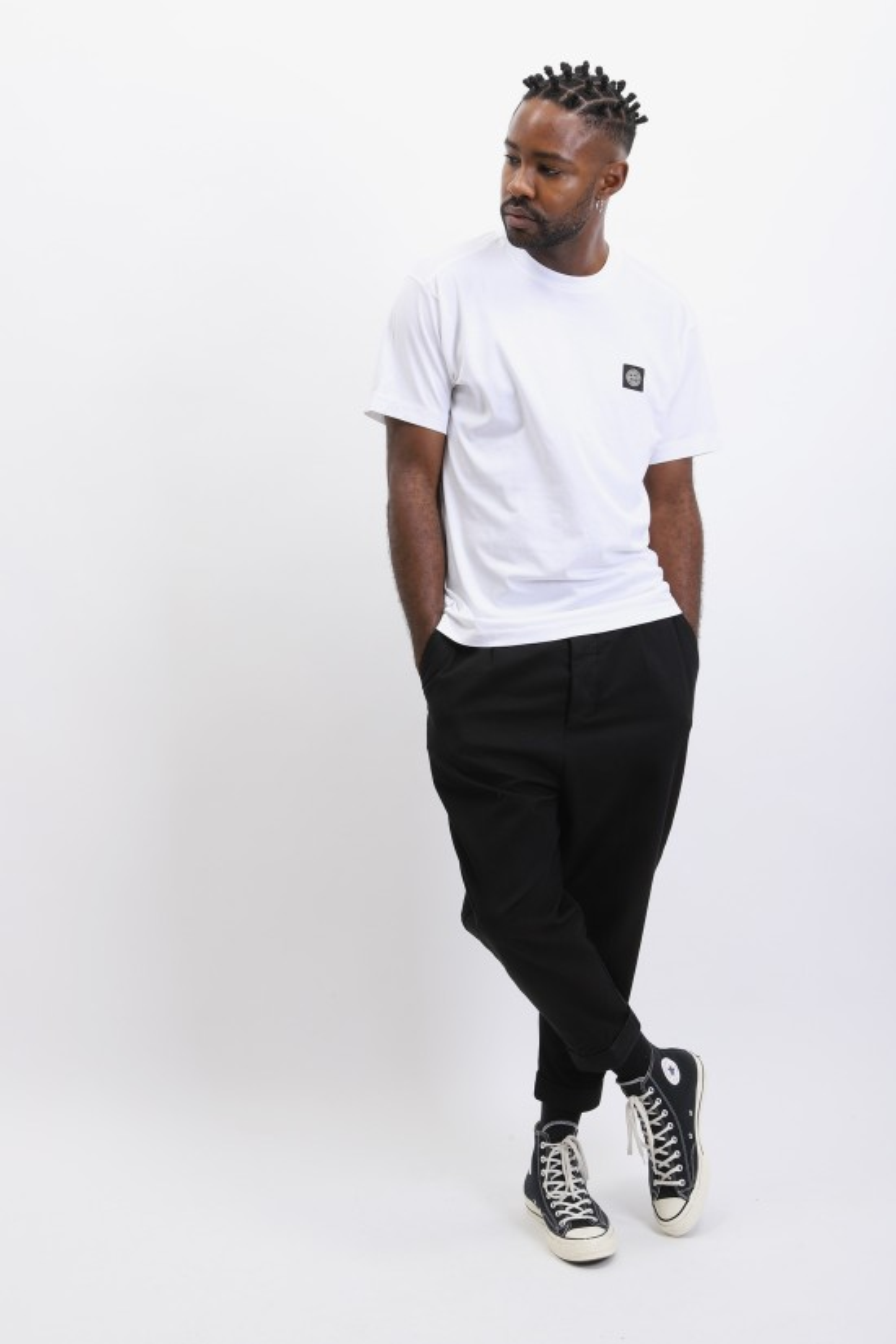 STONE ISLAND / 24113 logo t shirt v0001 Bianco