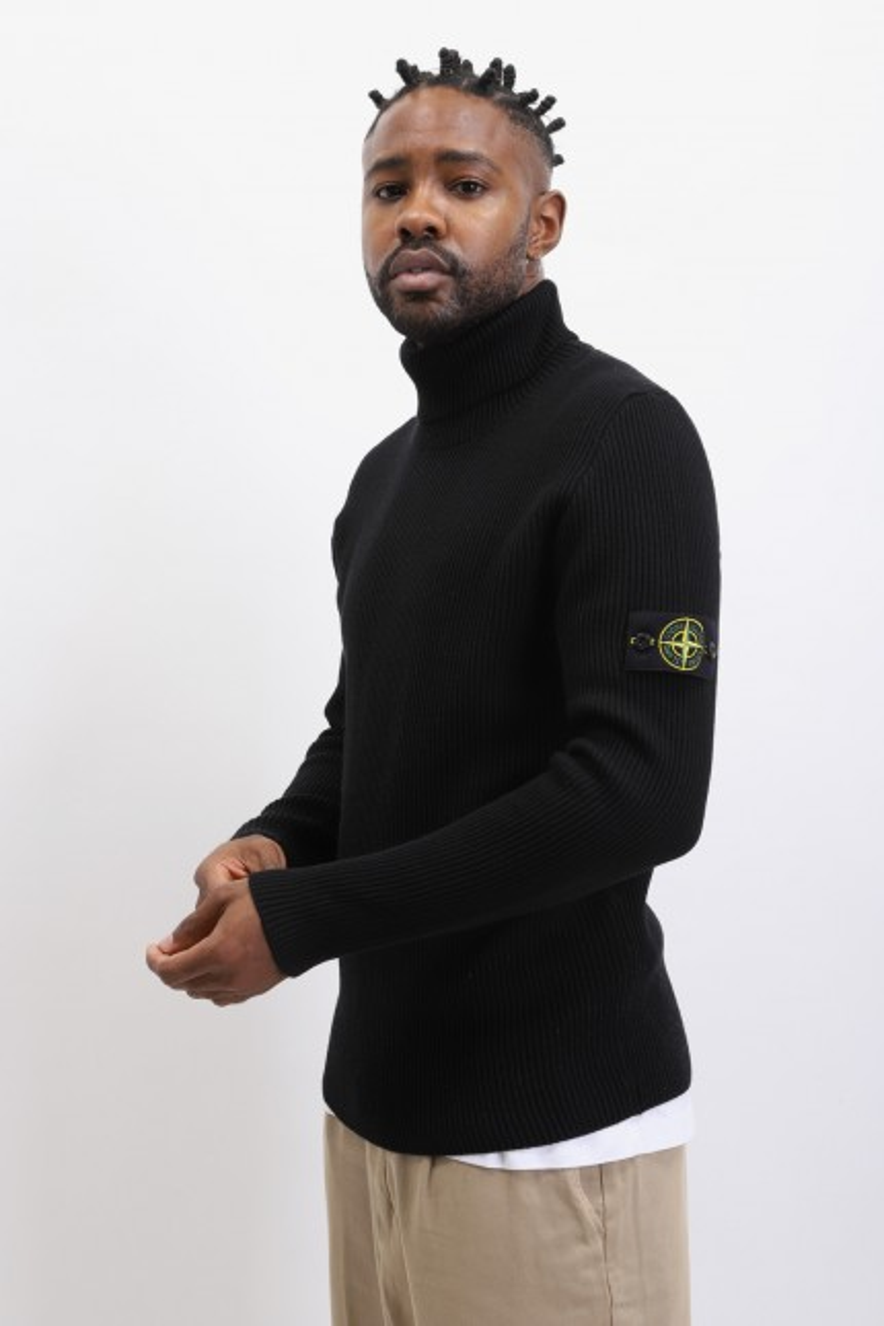 522c2 rollneck knitwear v0029 Nero