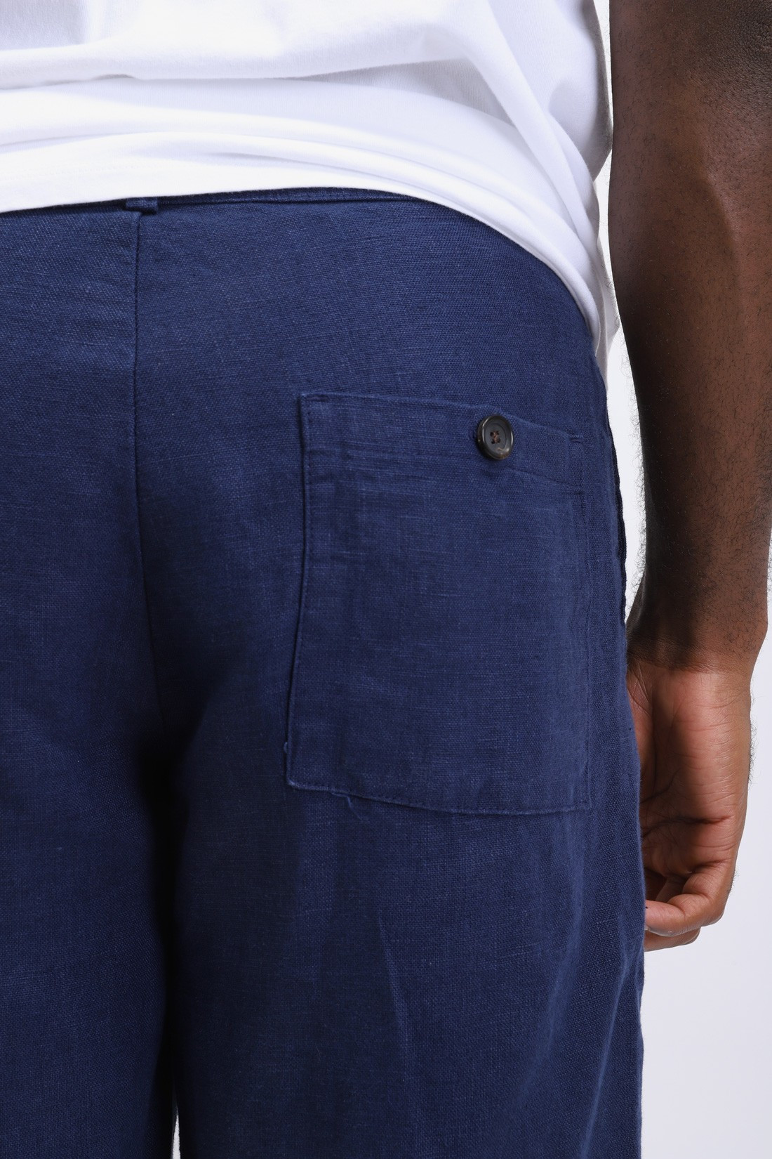 OLIVER SPENCER / Judo pant linen Navy