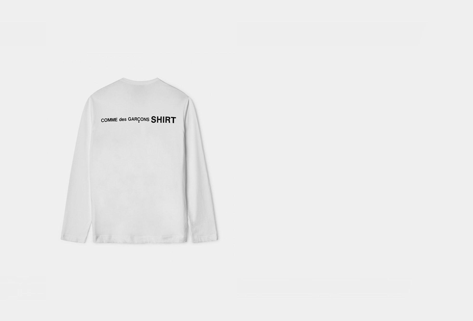 COMME DES GARÇONS SHIRT / Mens ls t-shirt w28115 White
