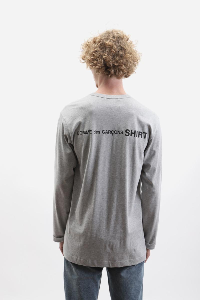 Mens ls t-shirt w28115 Grey