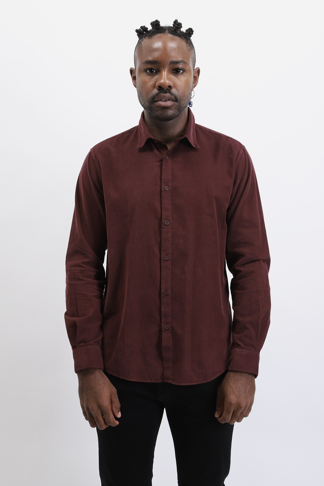 SUNSPEL / Baby cord shirt Merlot