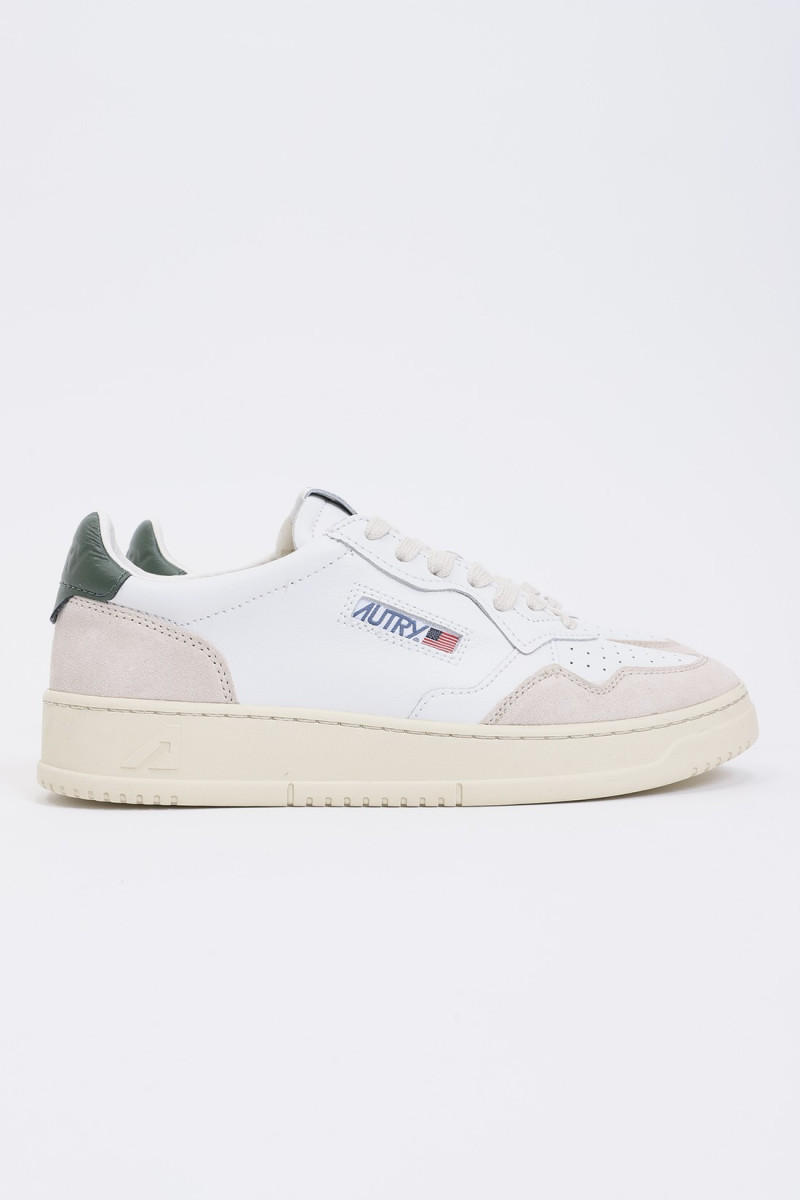 Autry ls36 Leat/suede wht/grn