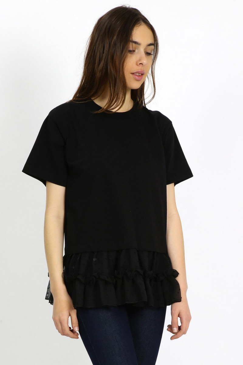 Tulle top Black