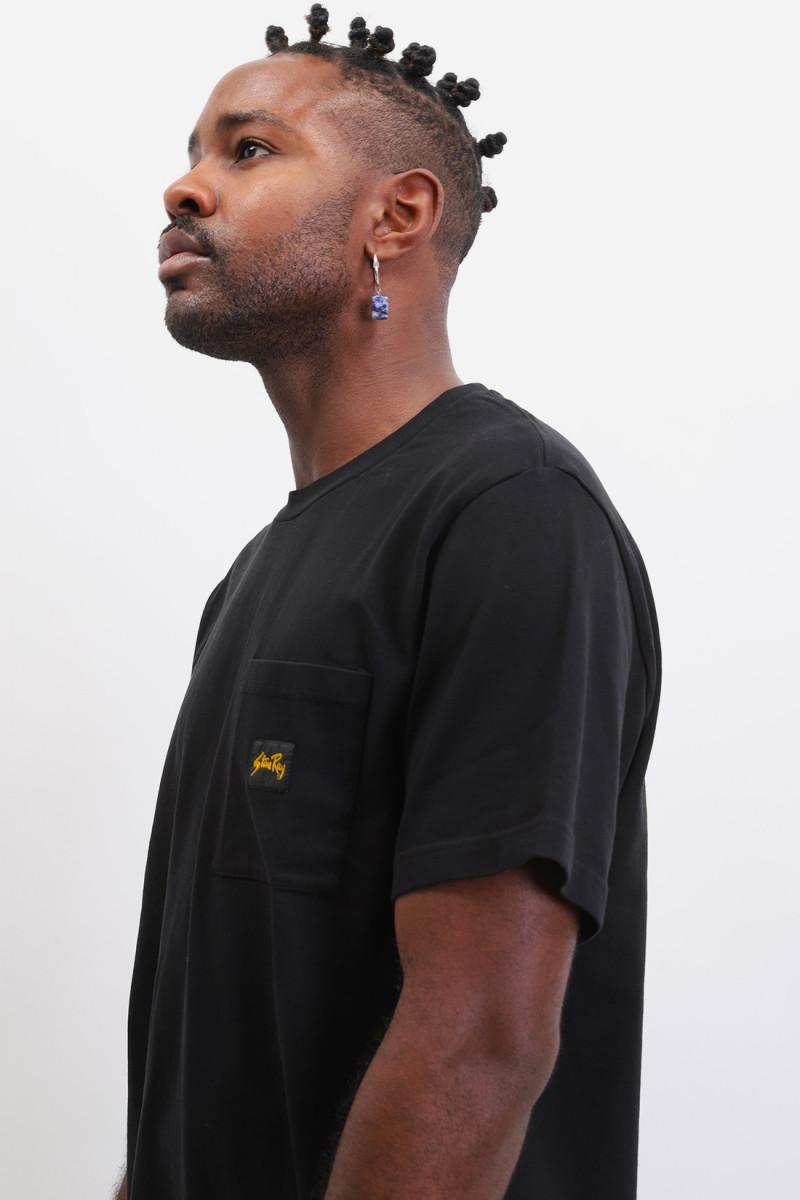 Patch pocket t-shirt Black