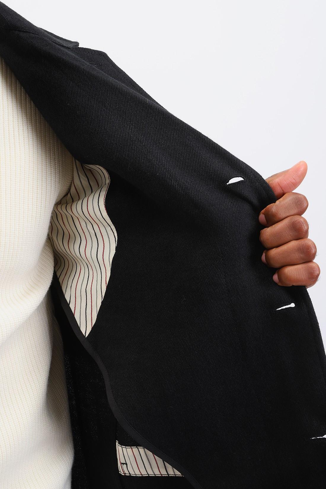 JUNYA WATANABE MAN / Wf-c401-w20 wool linen coat Black