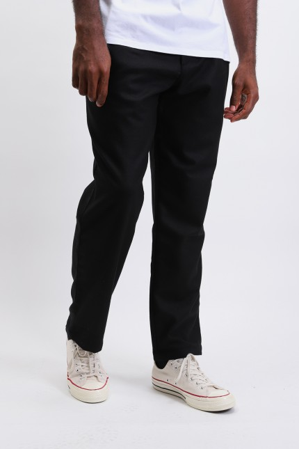 Wool double pleat chino Charcoal