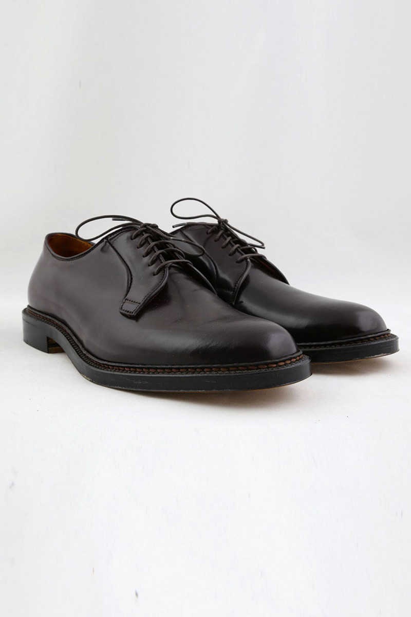 990 plain toe blucher oxford Cordovan burgundy