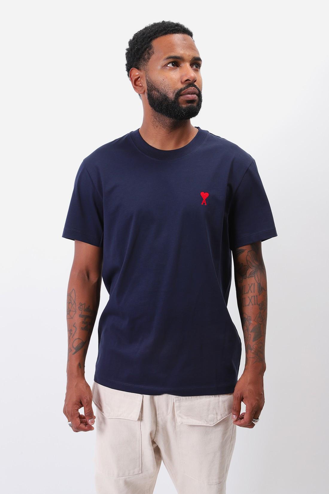 AMI / T-shirt ami de coeur Marine