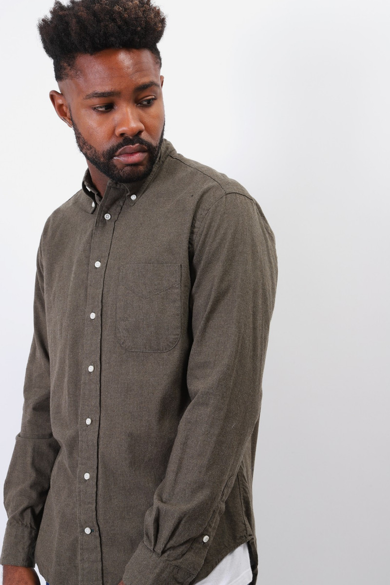 Classic flannel shirt Olive