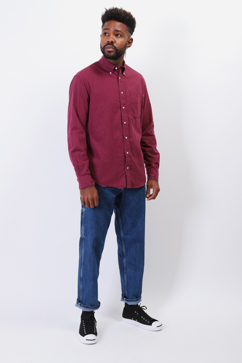 Classic flannel shirt Burgundy