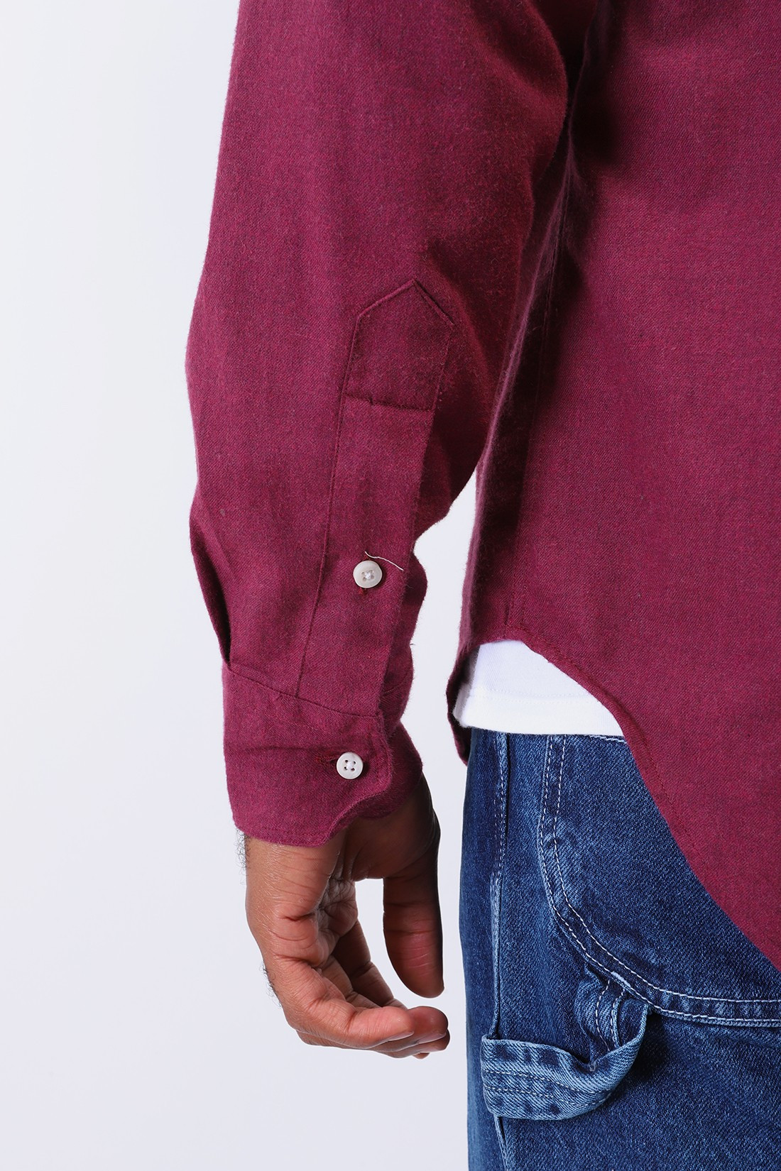 GITMAN / Classic flannel shirt Burgundy