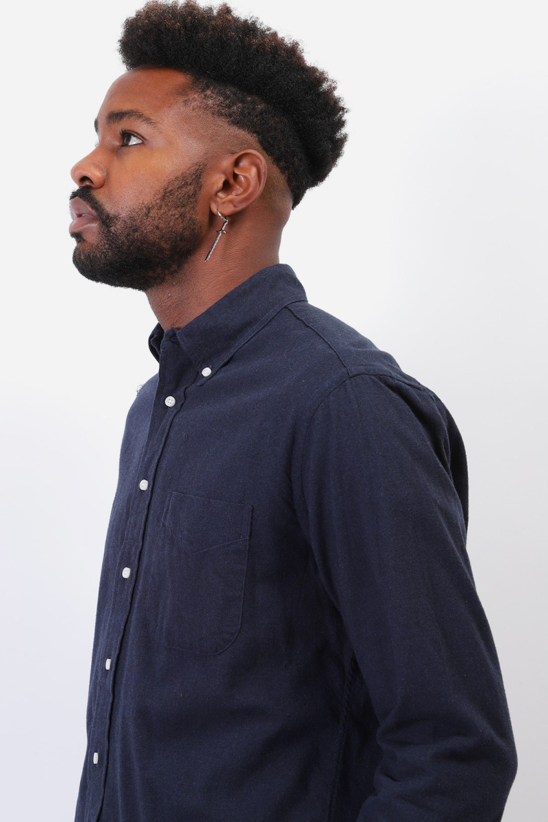 Classic flannel shirt Navy