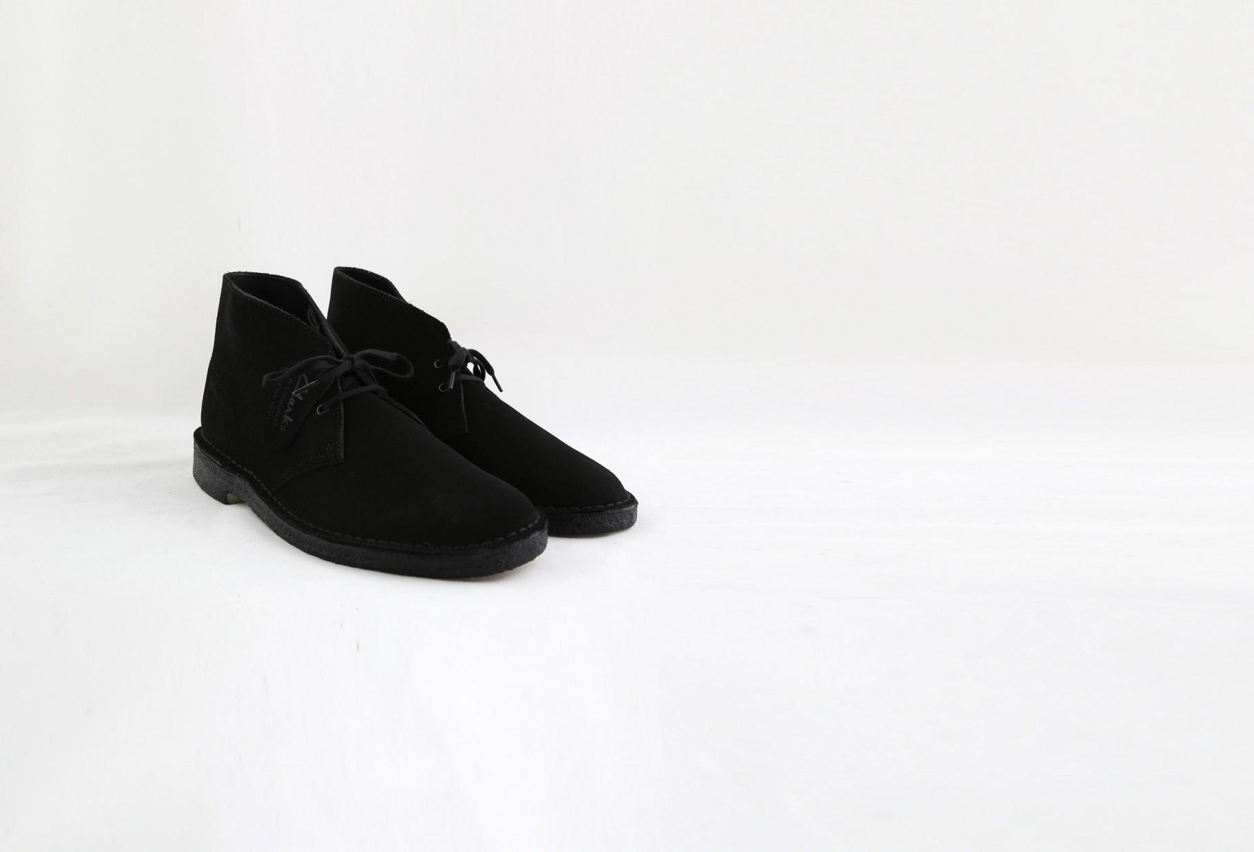 CLARKS ORIGINALS / Desert boot black suede Black suede