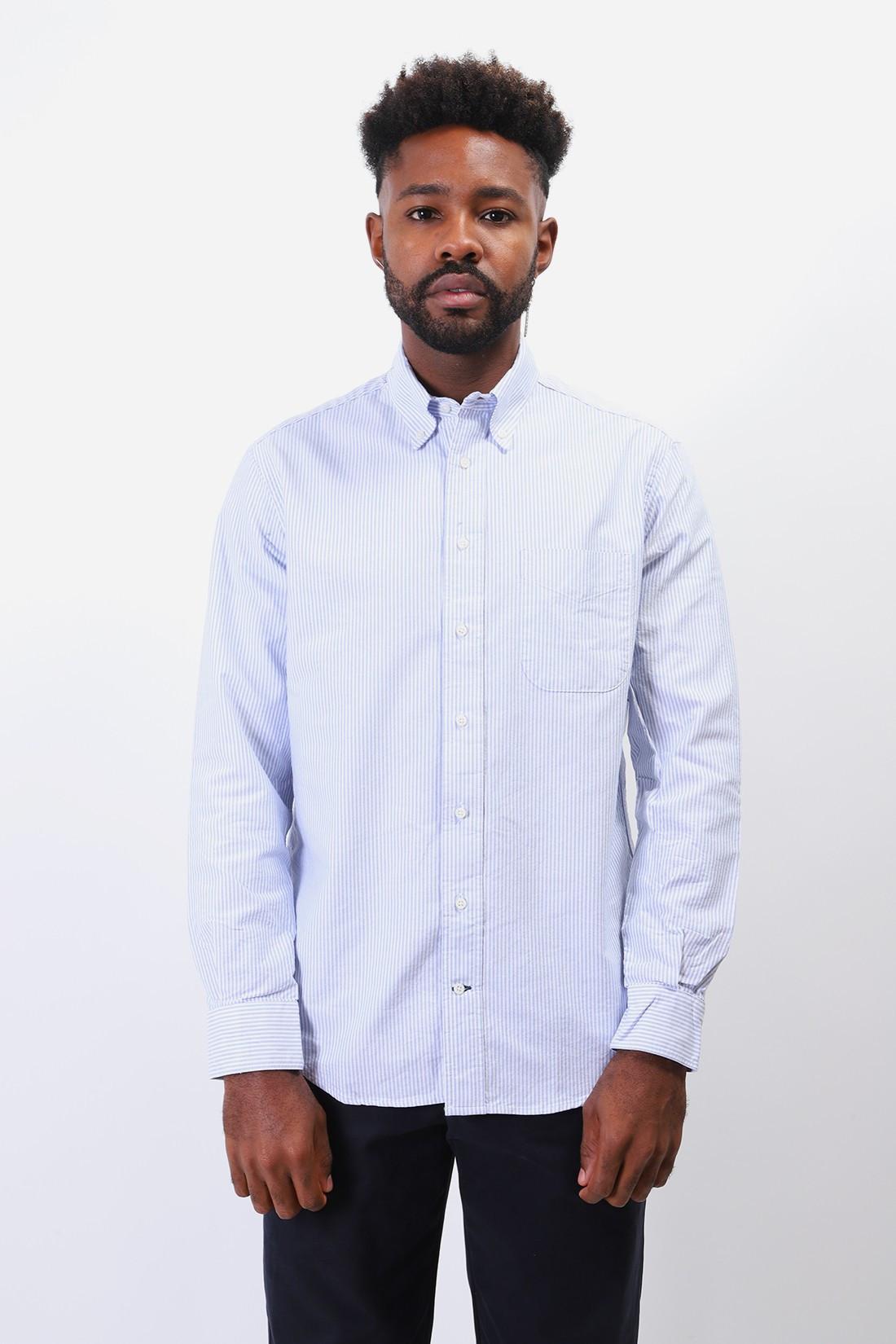 GITMAN / Classic oxford shirt Blue stripe