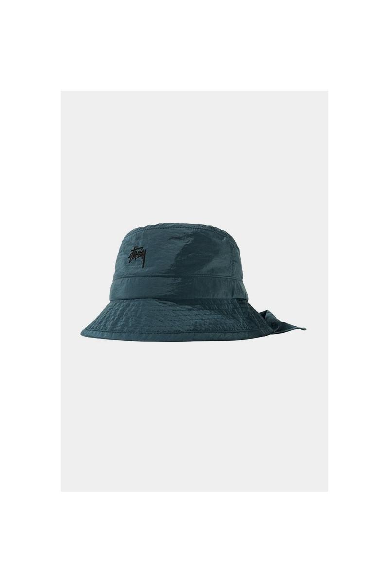 Metallic nylon bungee bucket Blue