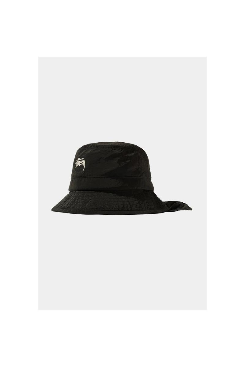 Metallic nylon bungee bucket Black