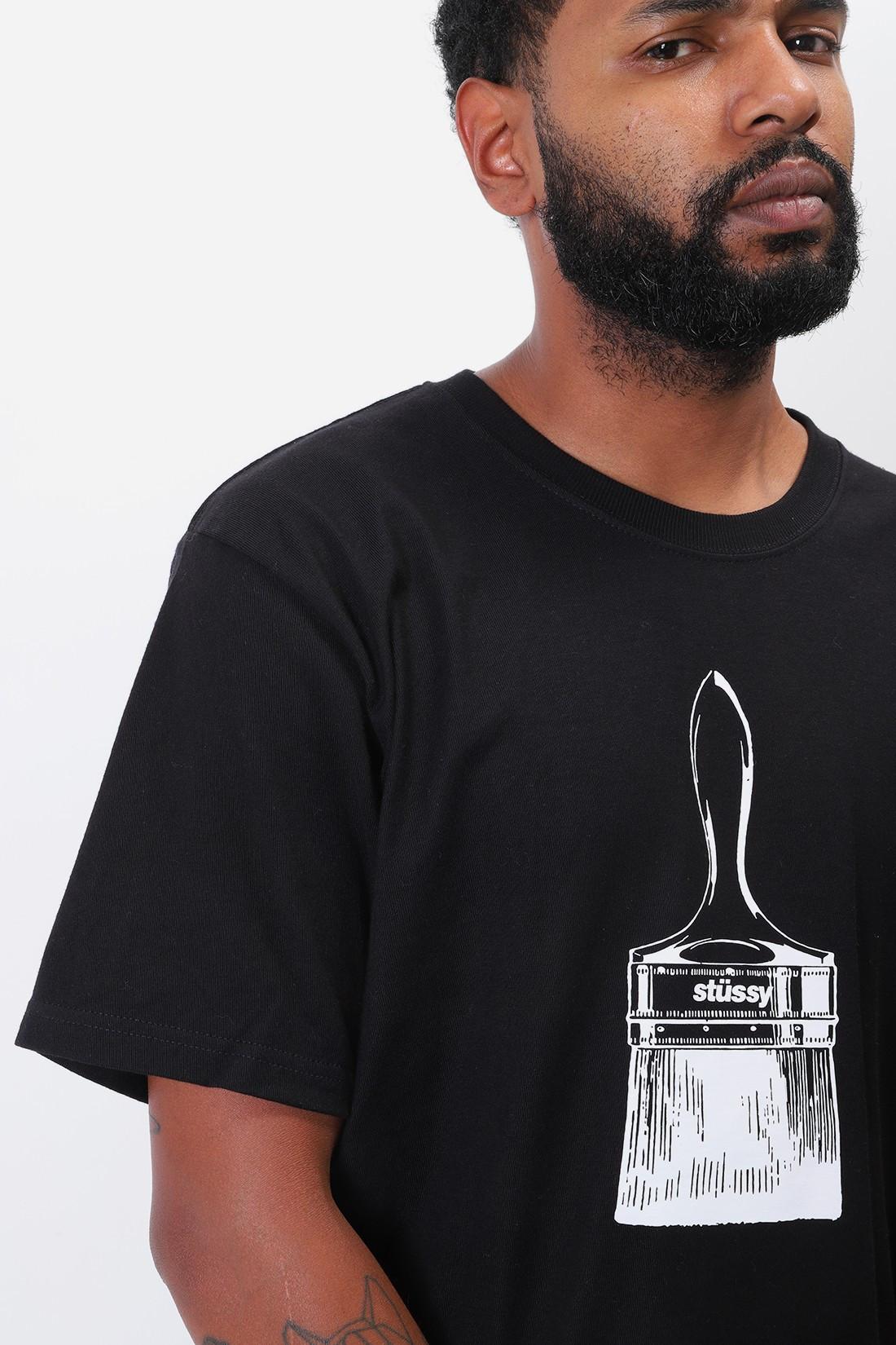 STUSSY / Paintbrush tee Black