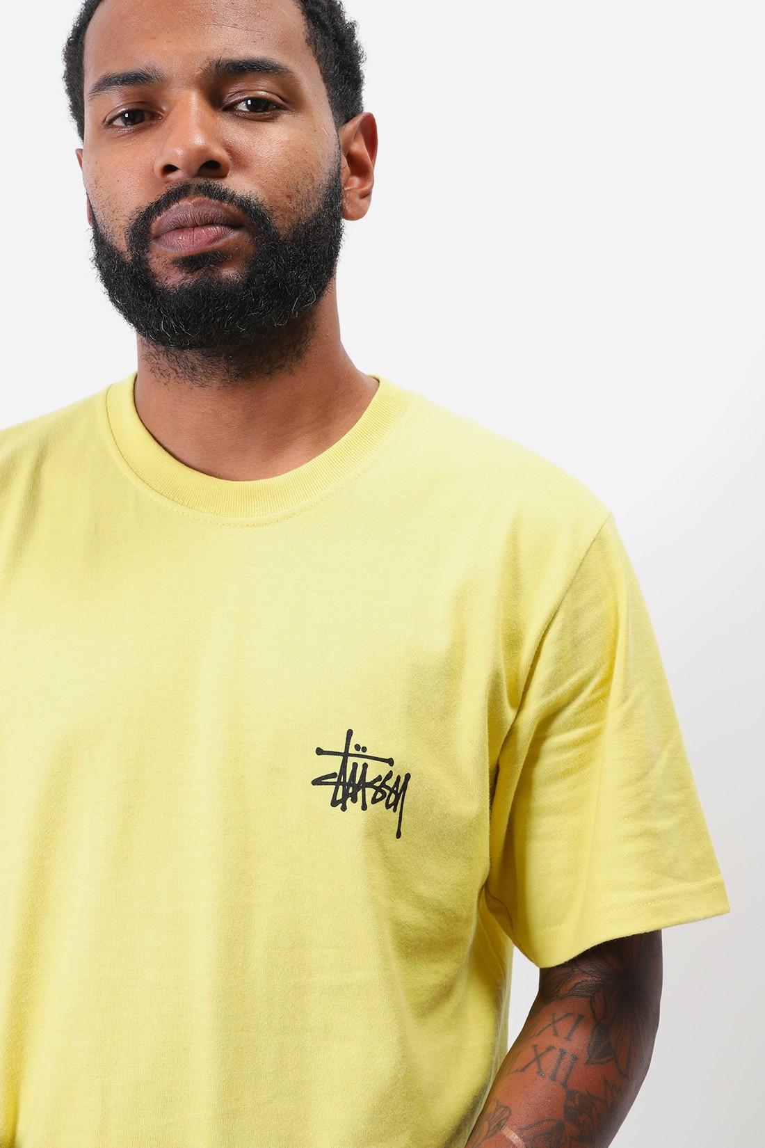 STUSSY / Basic stussy tee Lemon