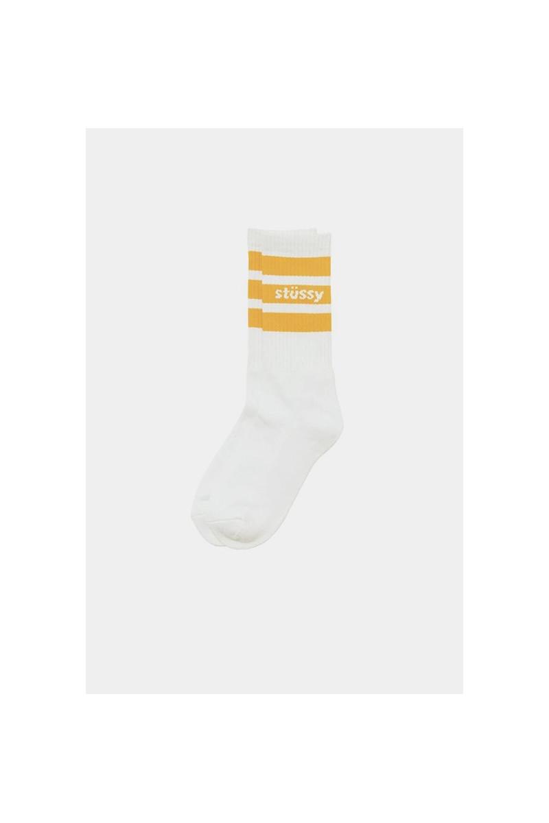 Stussy sport crew socks White orange