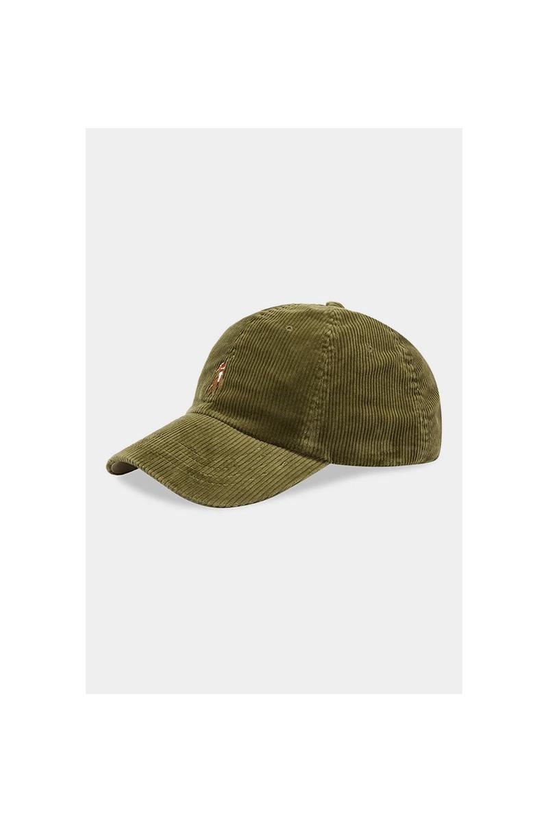Classic sport cap corduroy Sauge green