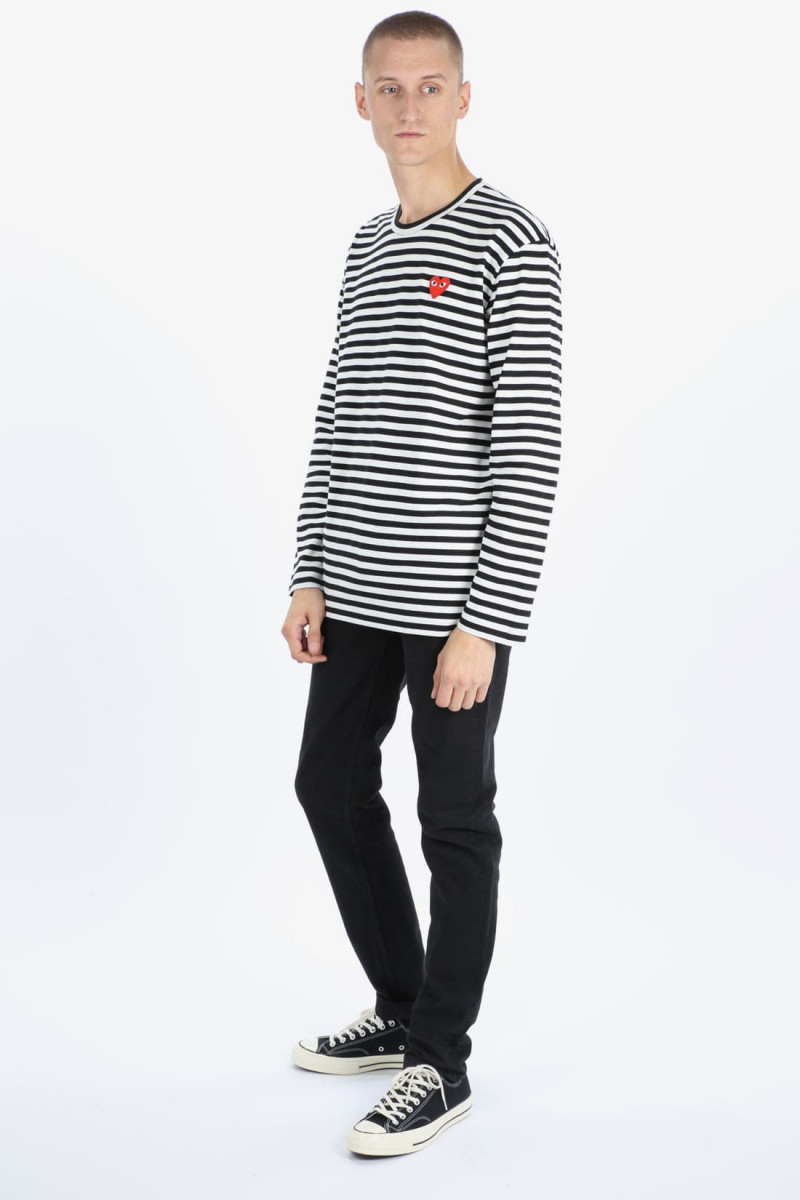 Play striped t-shirt Black white