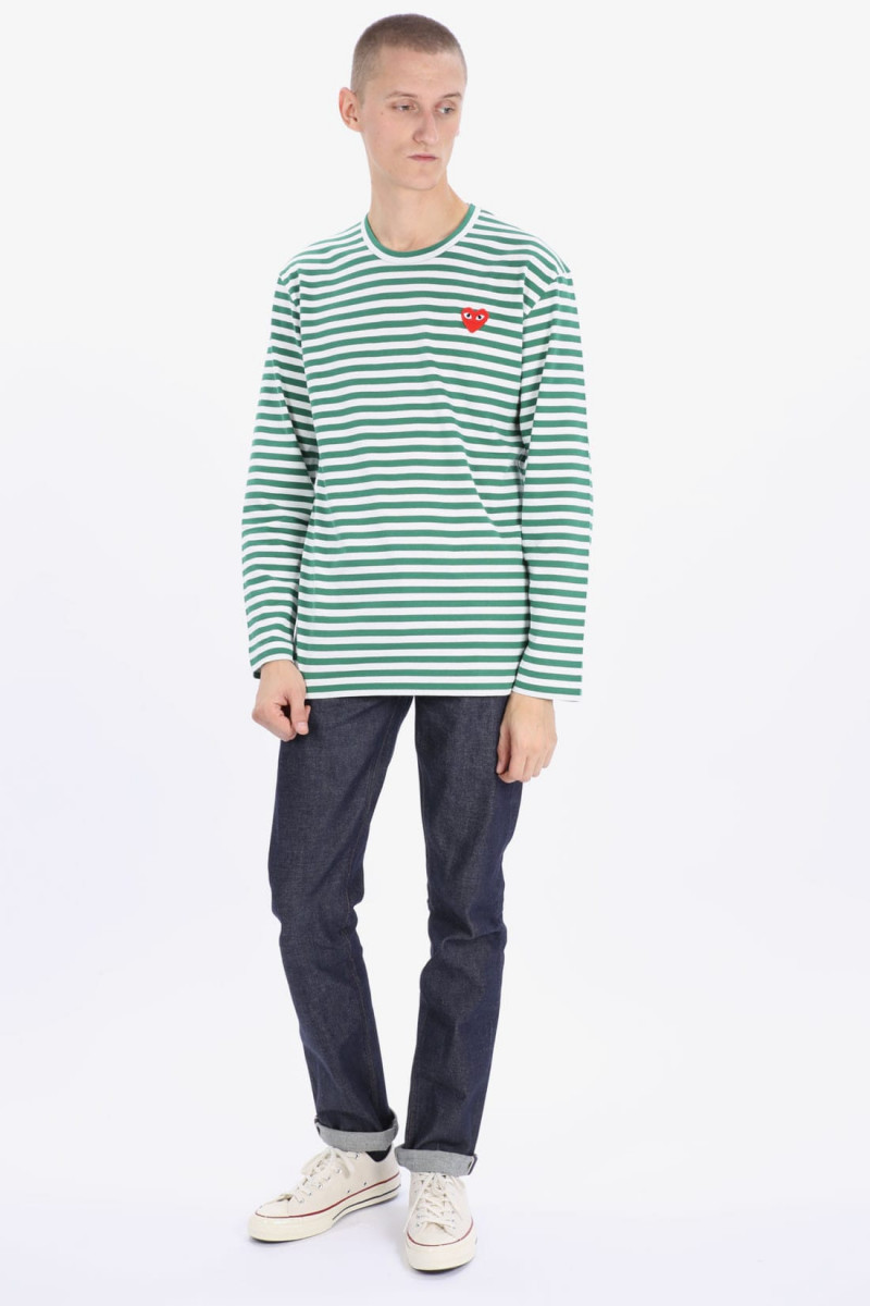 Play striped t-shirt Green white
