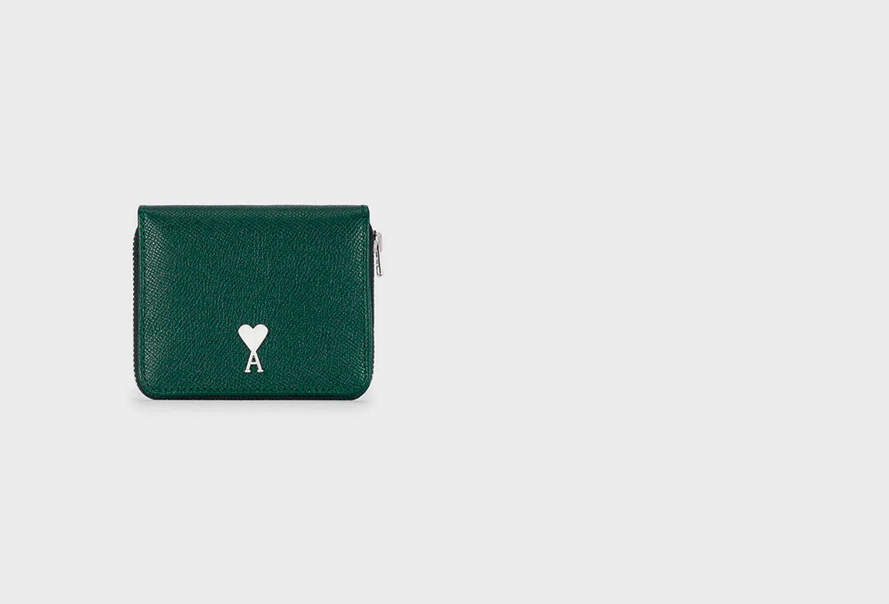 AMI / Portefeuille compact rivet ami Vert