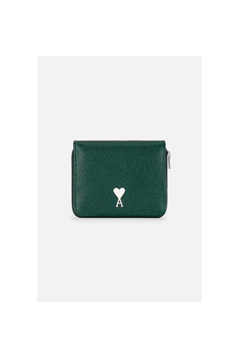 Portefeuille compact rivet ami Vert