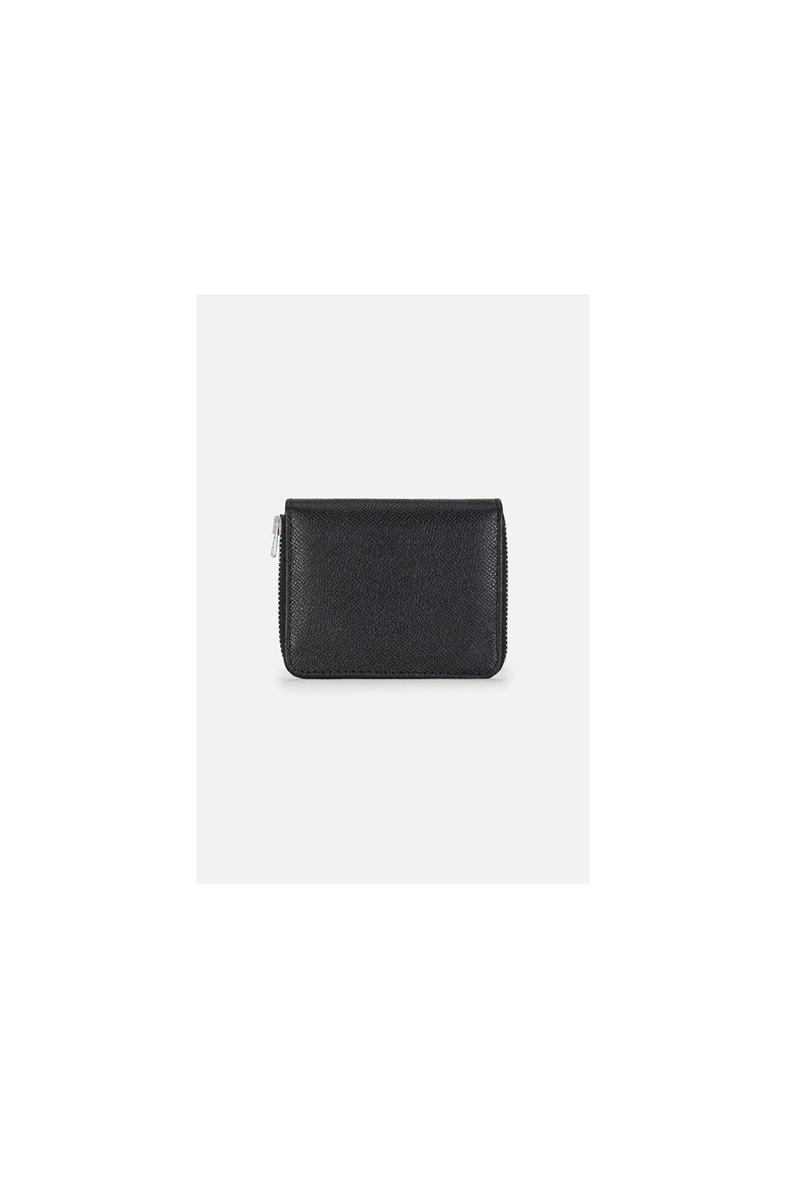AMI / Portefeuille compact rivet ami Noir