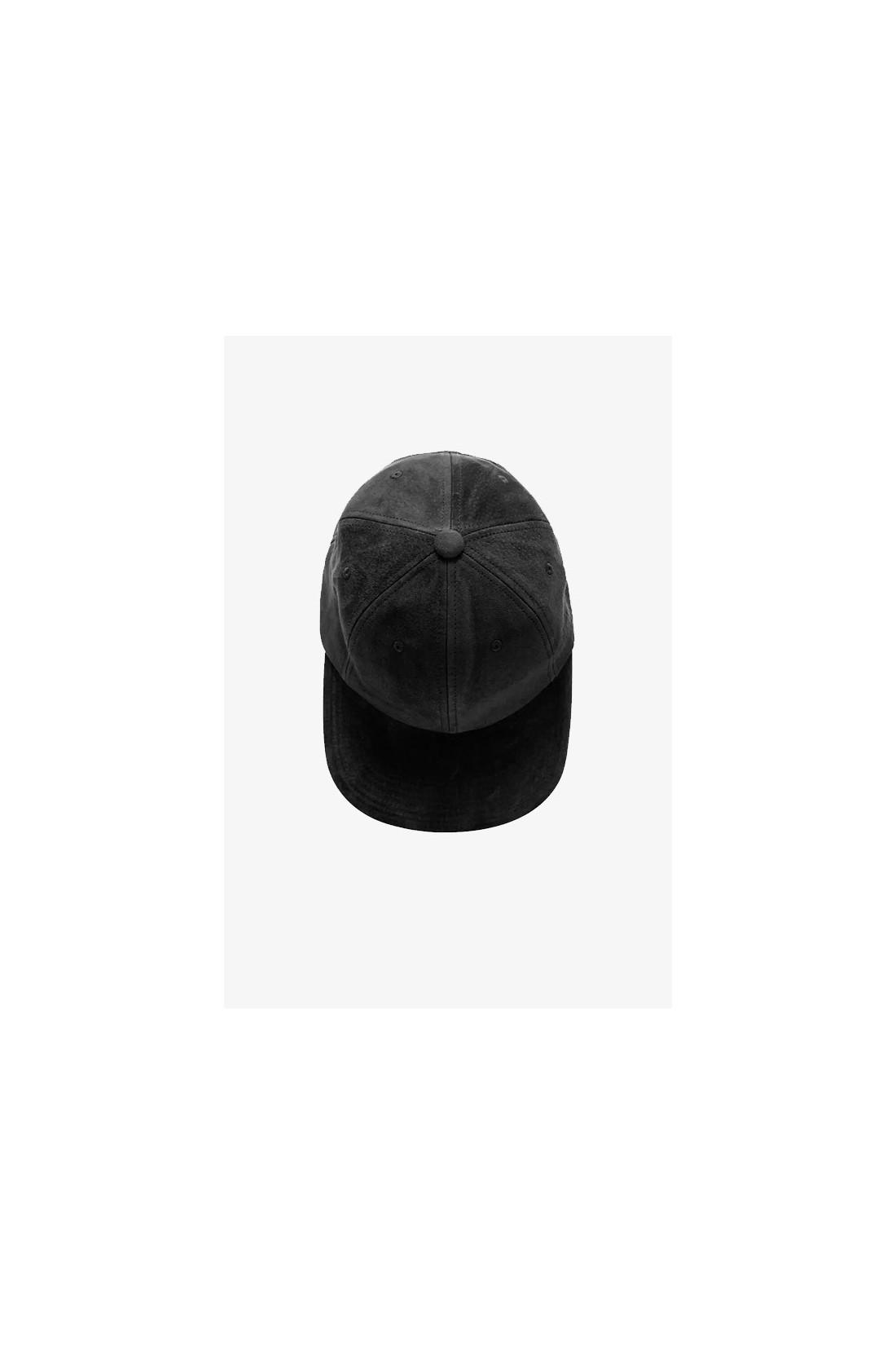 BEAMS PLUS / 6 panel cap suede Black