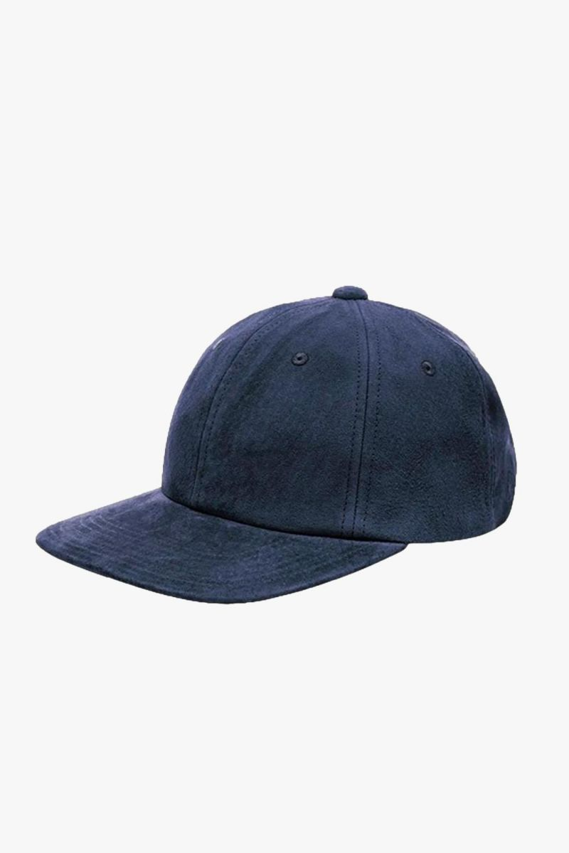 6 panel cap suede Navy