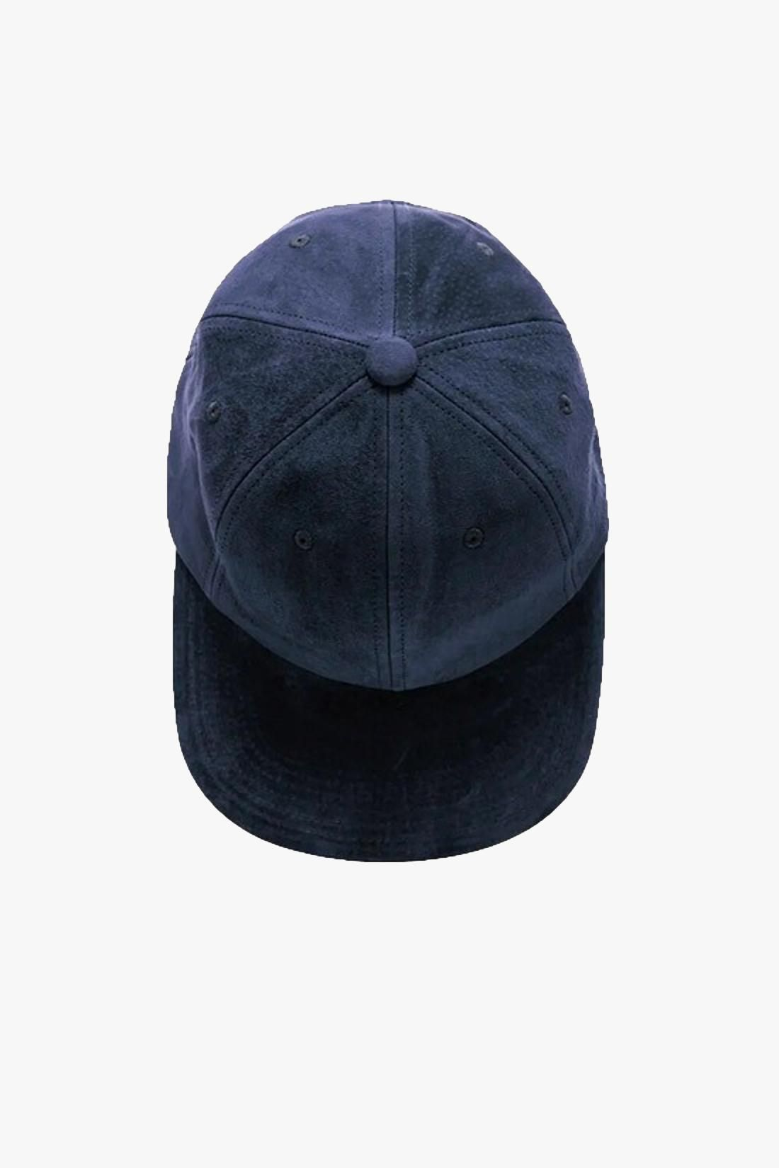 BEAMS PLUS / 6 panel cap suede Navy