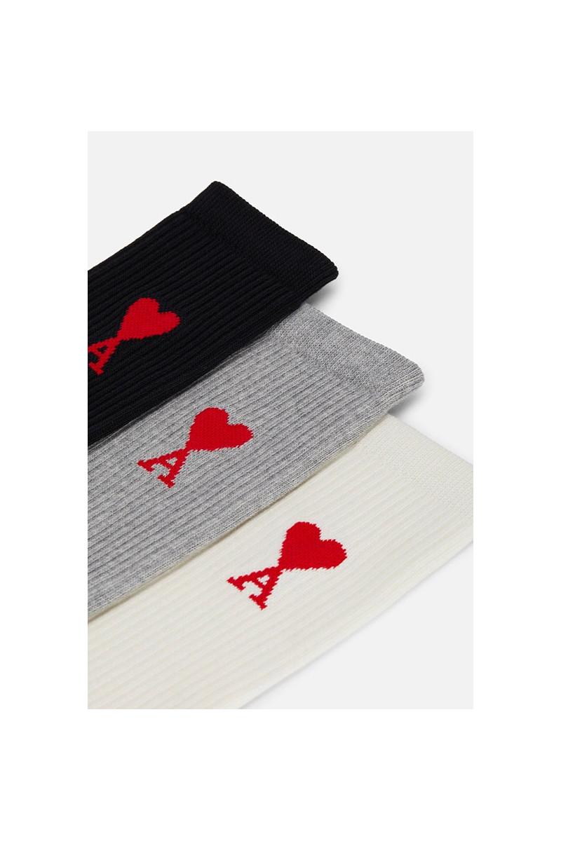 Chaussettes ami de coeur Ecru/gris/noir