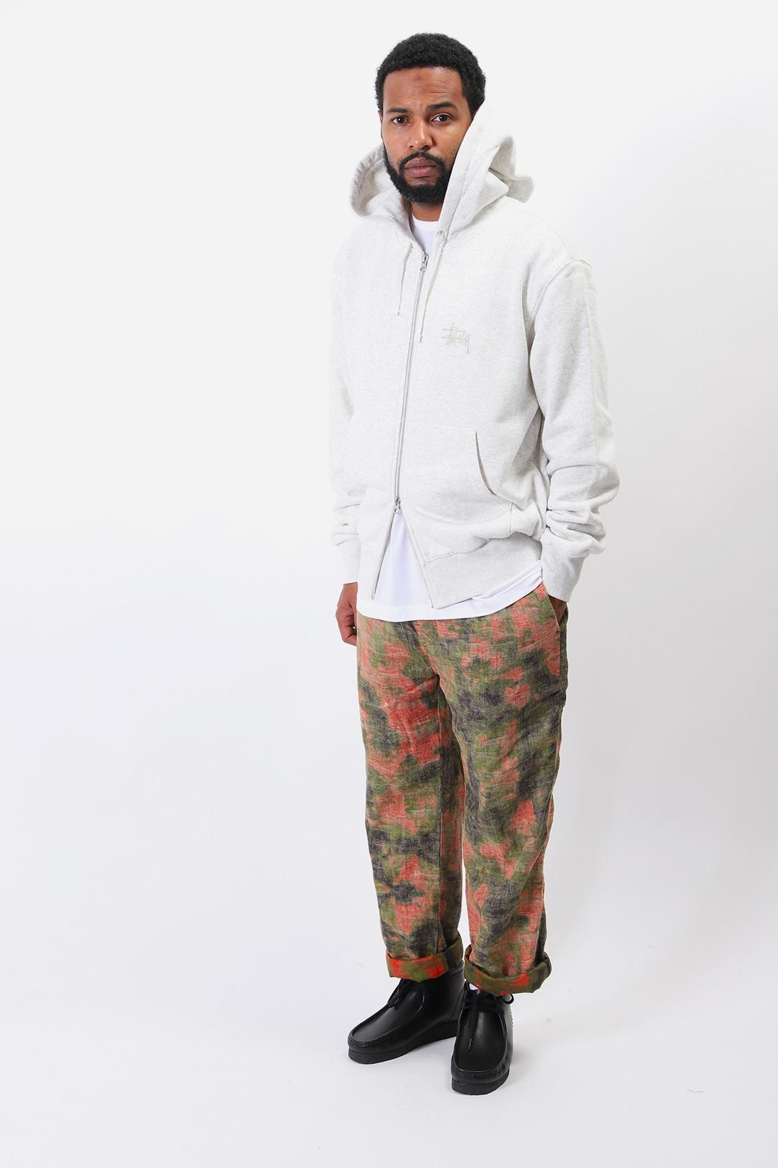 STUSSY / Thermal zip hoodie Ash heather