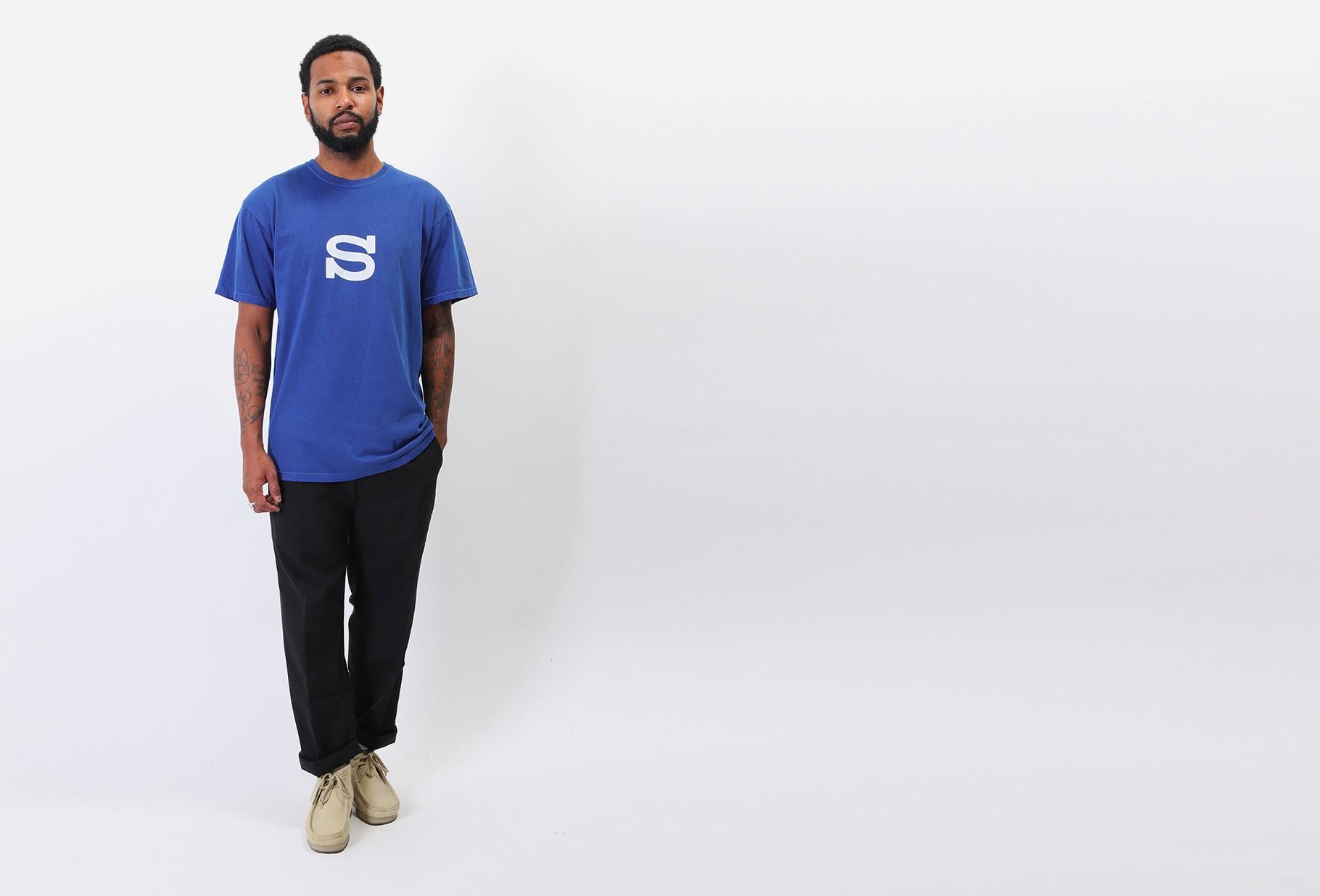 STUSSY / S sport tee Dark blue