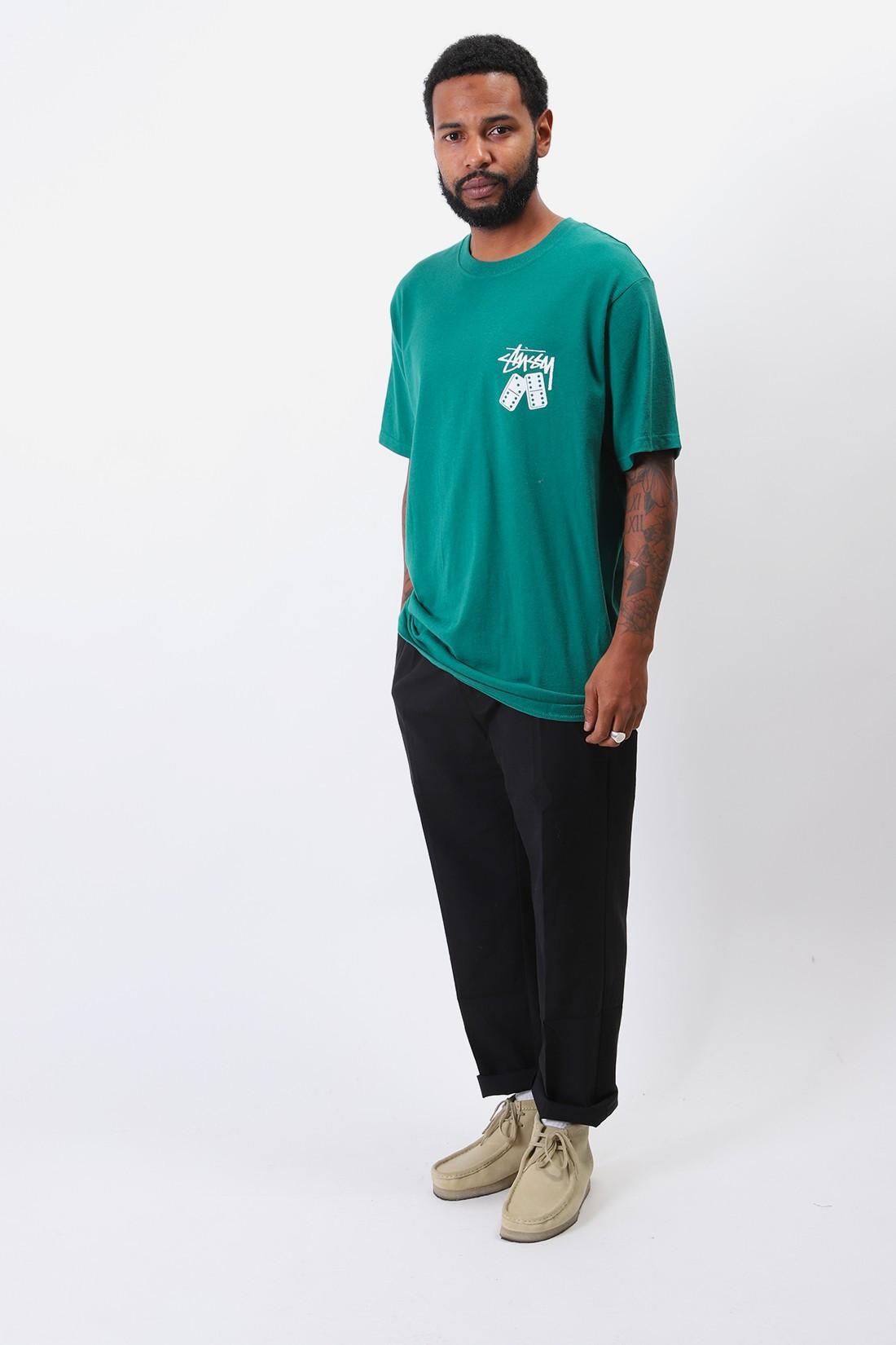 STUSSY / Dominoes tee Dark green