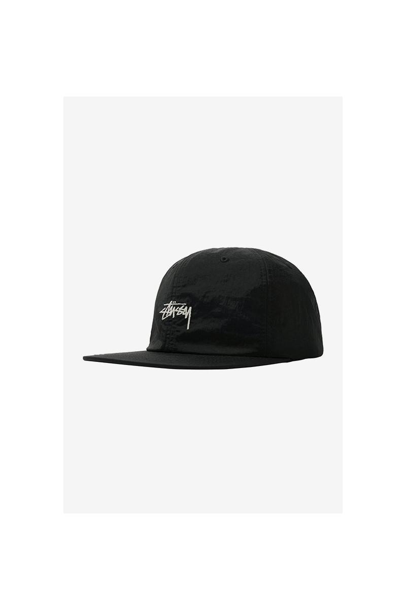 Stock metallic low pro cap Black