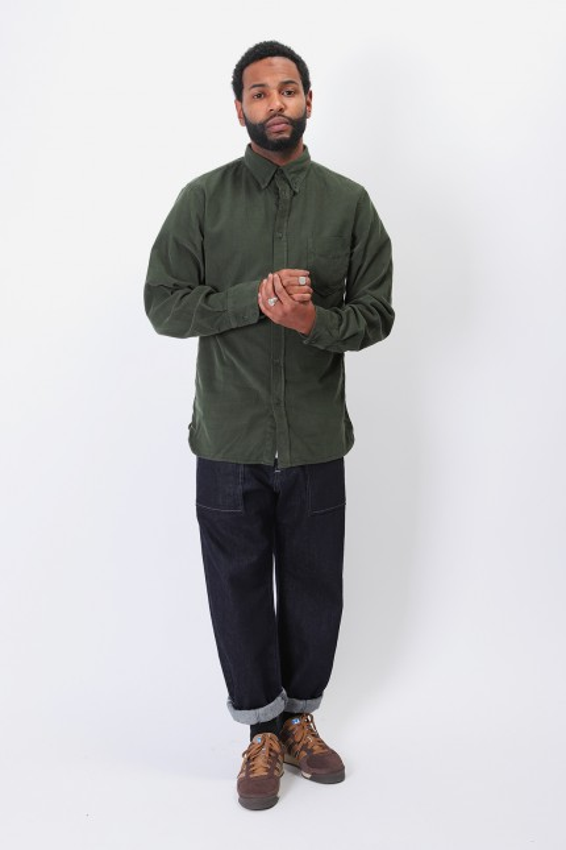 Everyday shirt corduroy Green