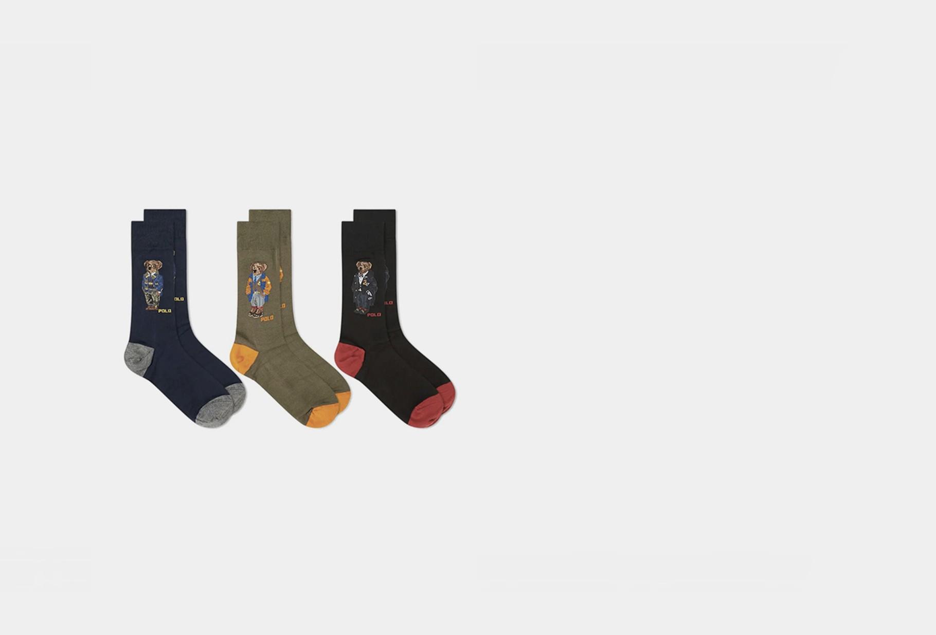 POLO RALPH LAUREN / Gift box 3 bear socks Multi