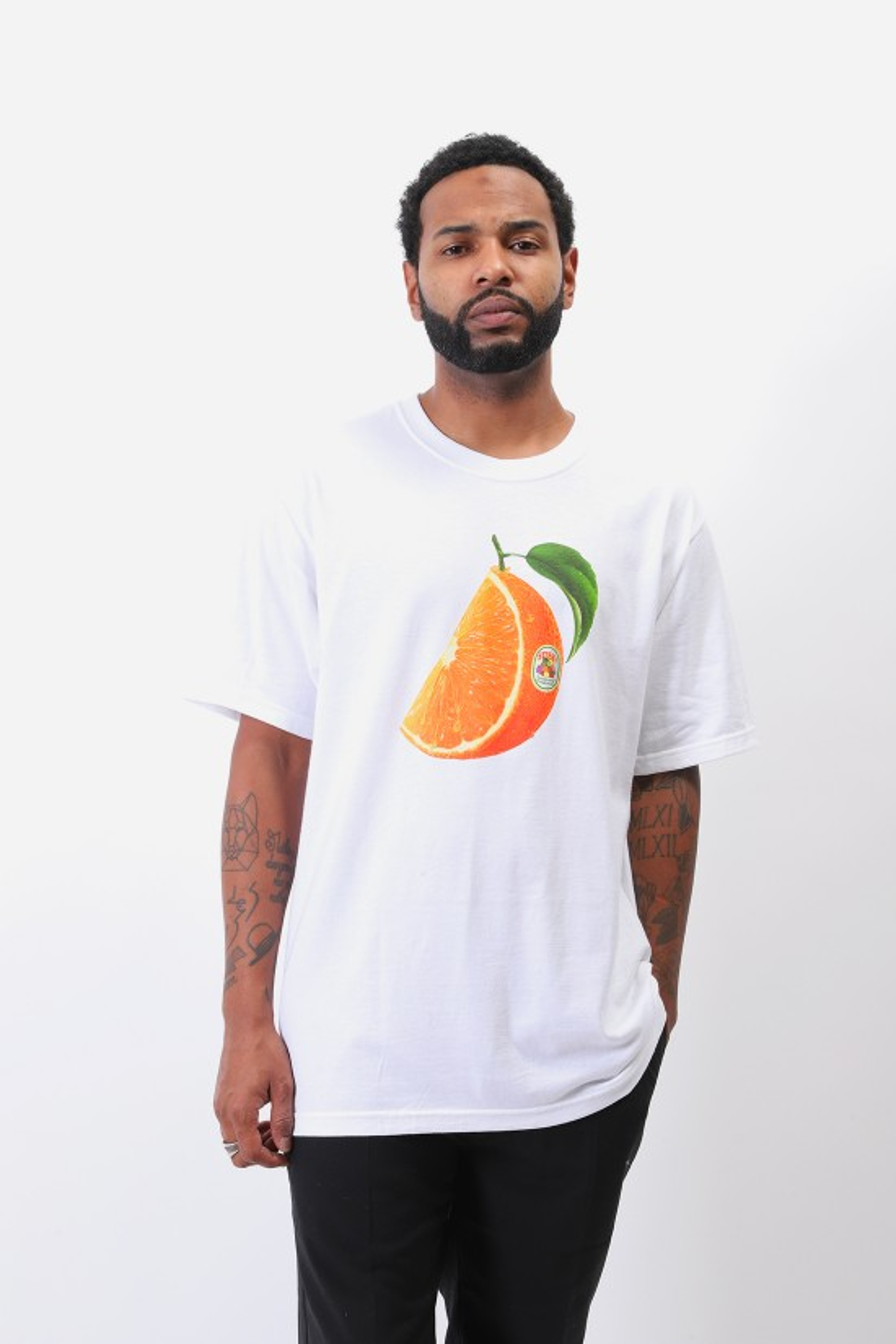 STUSSY / Orange slice tee White