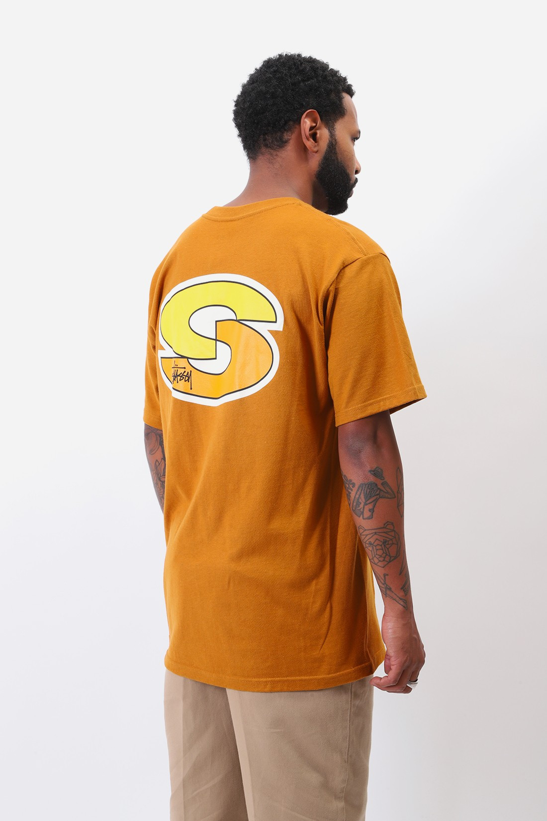 STUSSY / Super s tee Caramel