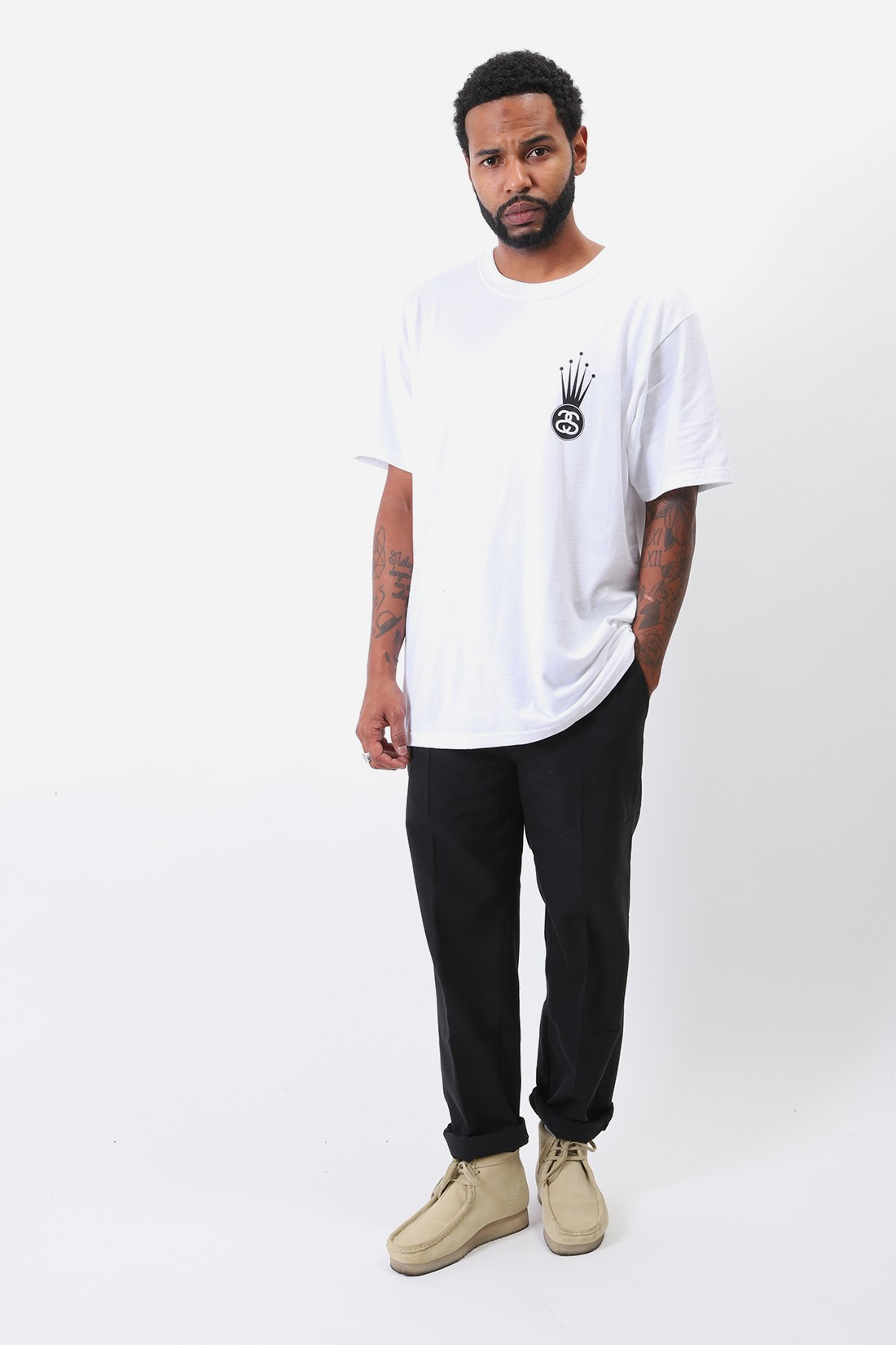 STUSSY / Crown link tee White