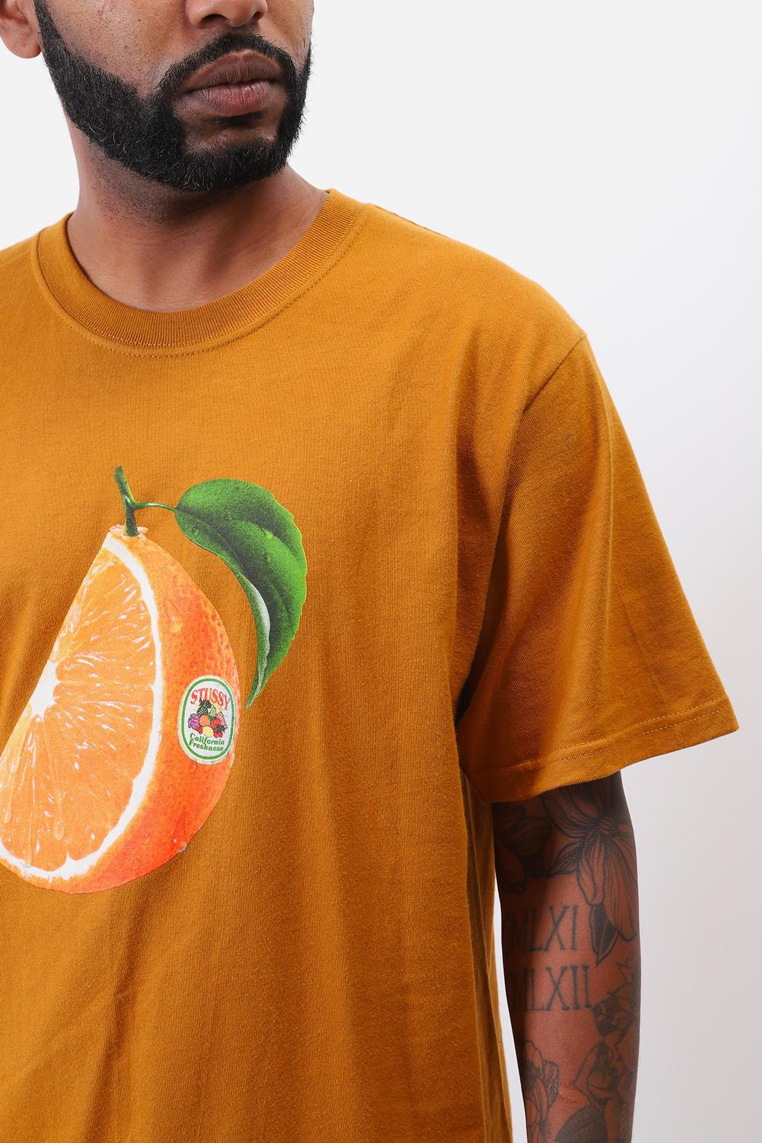 STUSSY / Orange slice tee Caramel