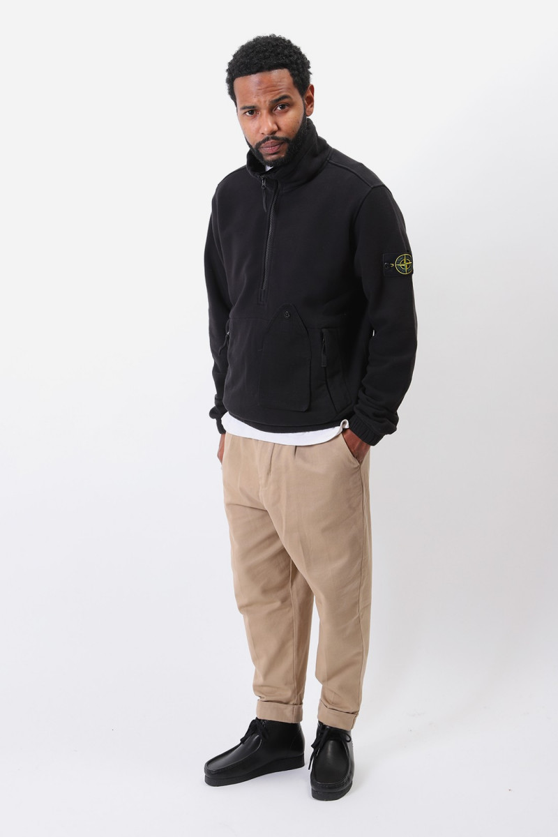 61520 half-zip sweater v0029 Nero