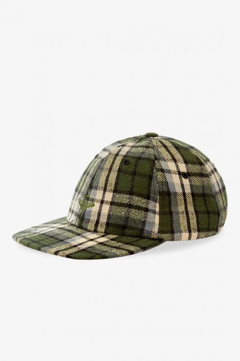 Field cap Green plaid