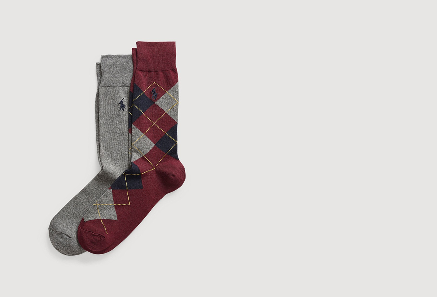 POLO RALPH LAUREN / Burlington 2 pack socks Burgundy / grey
