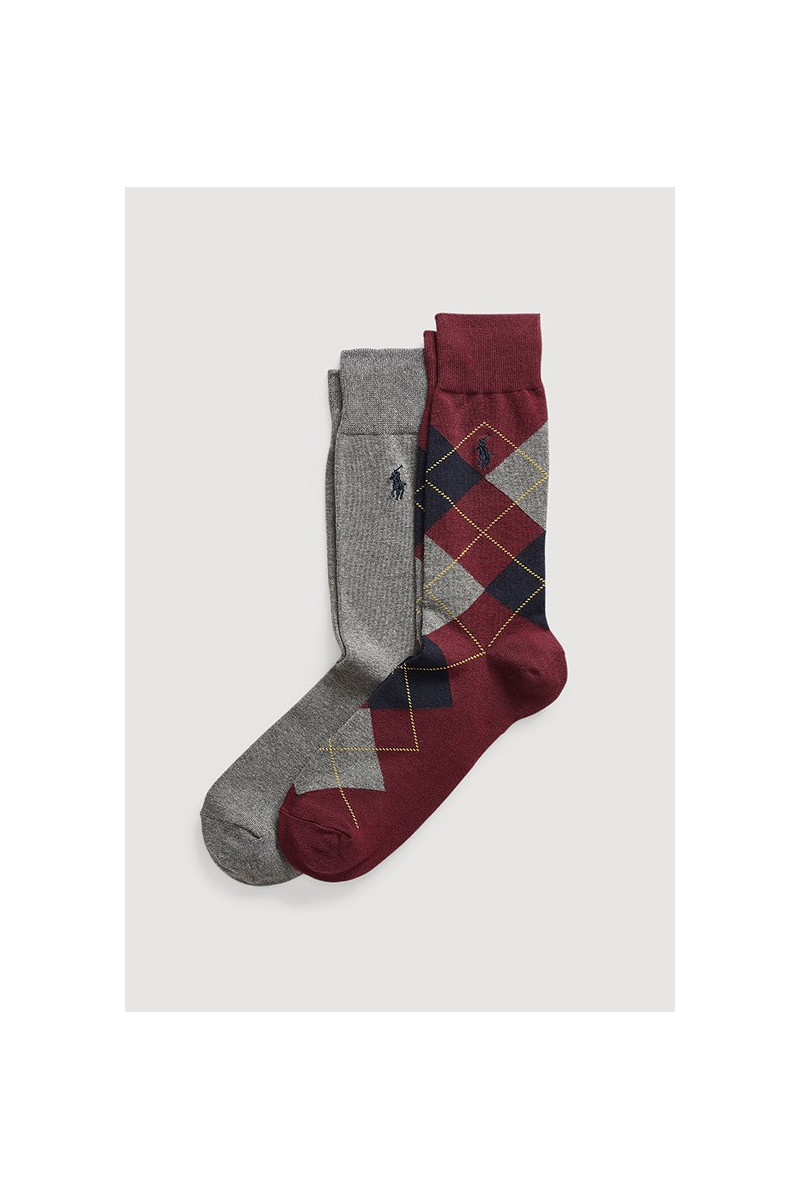 Burlington 2 pack socks Burgundy / grey