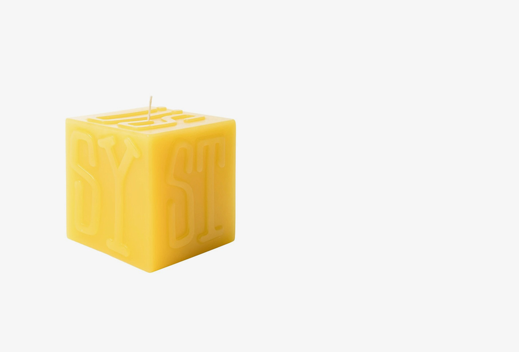 STUSSY / Stussy cube candle Yellow