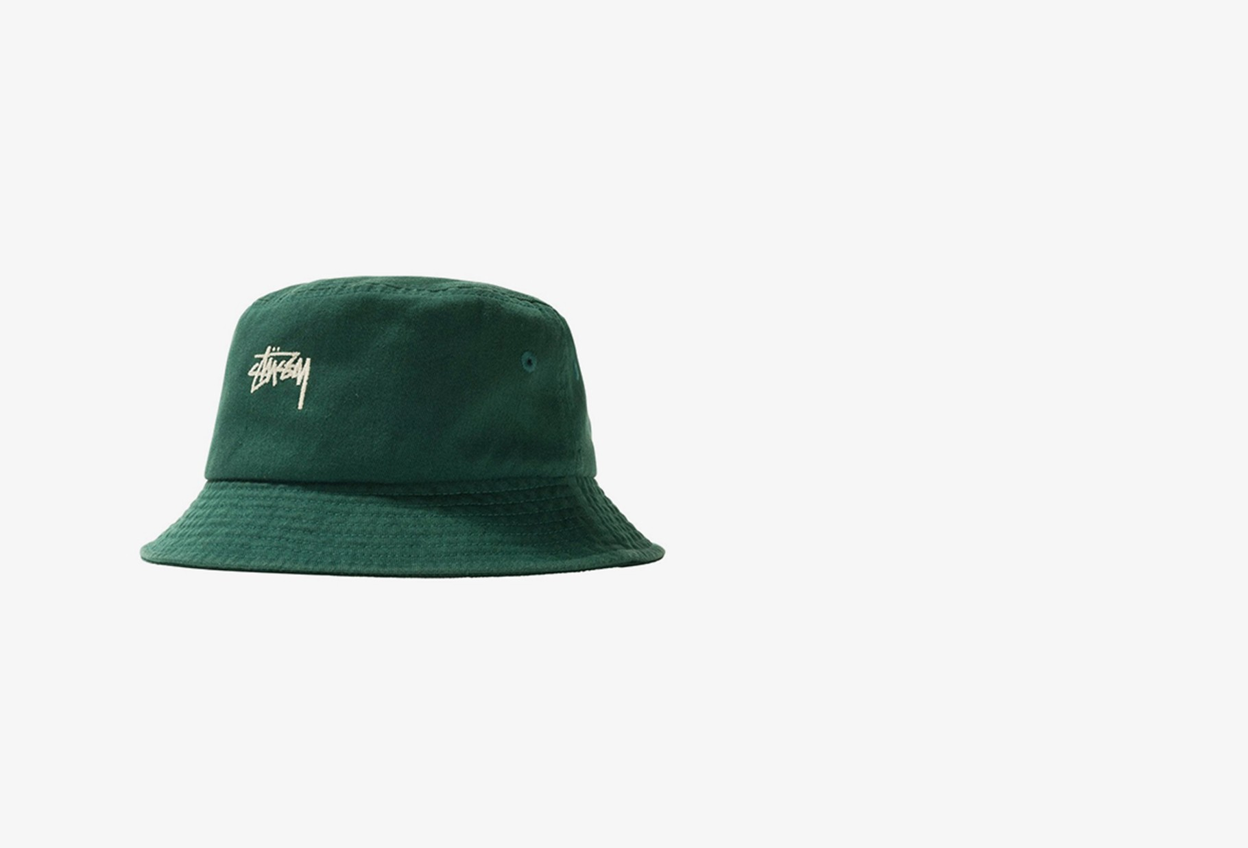 STUSSY / Stock bucket hat Green
